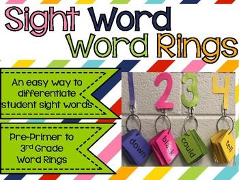 Sight Word Word Rings