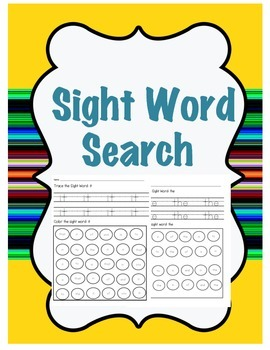 Sight Word Search