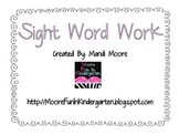 Sight Word Work- the, see, to, and & he