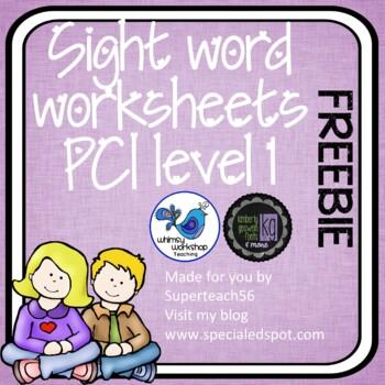 Sight Word Worksheet FREEBIE
