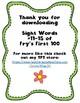 Sight Word Worksheet Pack: Words 11-15