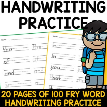 Sight Word Writing Practice - Fry's First Hundred {Click F
