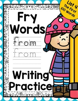 Sight Word Writing Practice - Fry's First Hundred List 4 {