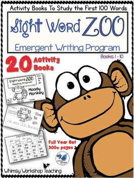 Sight Word Zoo (Full Year Bundle - 20 Booklets) 300 pages
