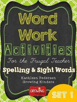 Sight Word and Spelling Activities for the Frugal Teacher