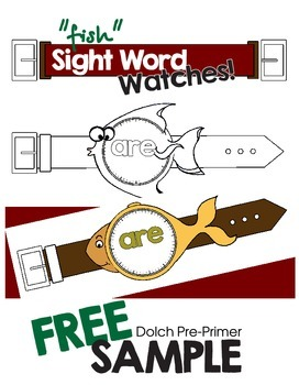 "Sight Word ""fish"" Watches- Pre-primer"