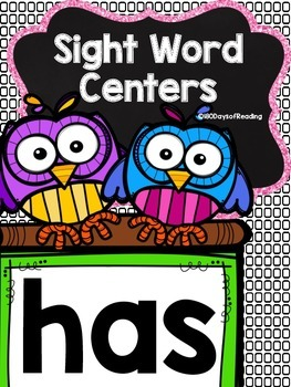 Sight Word {has} Activities
