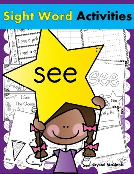 Sight Word of the Week (13 Activities for the word SEE)