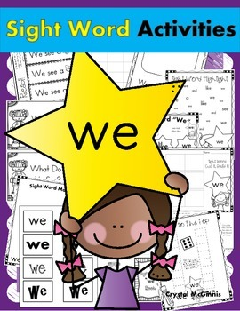Sight Word of the Week (12 Activities for the word WE)