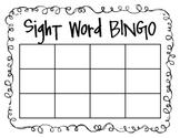 Sight Word/Spelling Word Bingo