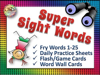 Sight Words - Word Wall Words and Worksheets - Fry Words Vol 1