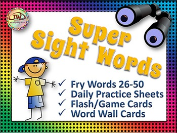 Sight Words - Word Wall Words and Worksheets - Fry Words Vol 2