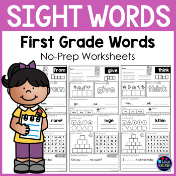 Sight Word First Grade Worksheets