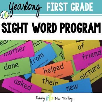 First Grade Sight Word Program (High Frequency Words) Outs