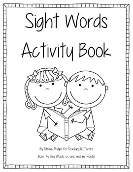 Sight Words Activity Book #6