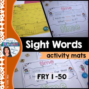 Sight Words Activity Mats - Fry 1-50