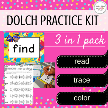 Dolch Sight Words Flash Cards, Printables and Tracing Cards