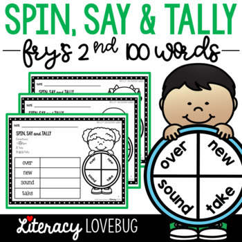 EDITABLE Sight Words Activity: Spin, Say and Tally (Fry's