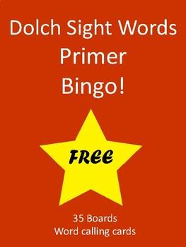 Sight Words BINGO! - Dolch Primer List