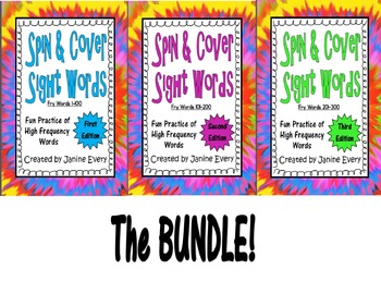 Fry Words - Spin & Cover Sight Word BUNDLE