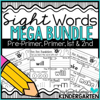 Sight Words BUNDLE (pre-primer, primer, first and second)