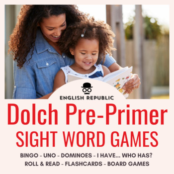 Sight Words Bingo - Dolch Pre-Primer in Color or B&W
