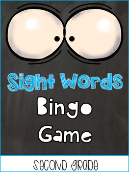Sight Words Bingo / memory game Second Grade List