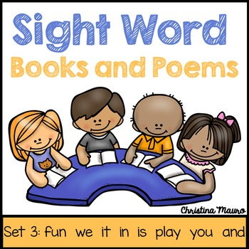 Sight Words Books and Poems - Set 3