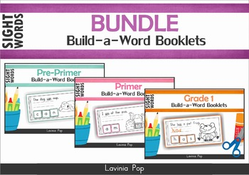 Sight Words Build a Word booklets BUNDLE