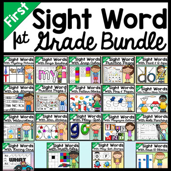 Sight Words Bundle {ALL 19 centers on the 1st Grade Dolch List!}