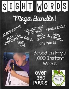 Sight Words Bundle Frys 1,000 Instant Words