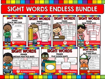 Sight Words Endless Bundle Primer Level