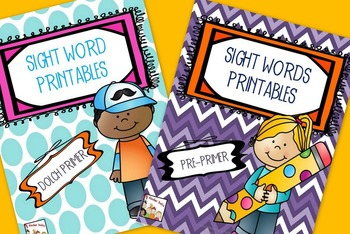 Sight Words Bundled- Kindergarten
