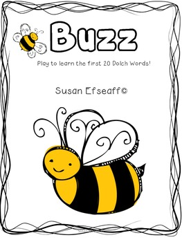 Literacy Center Games - Word Work Fluency with Sight Words - Buzz