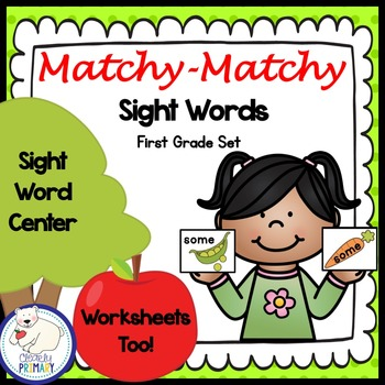 Sight Words Center: First Grade List
