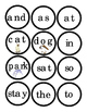 Sight Words Circles Cut Out Print 2 for Matching Game Sigh