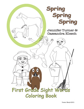 Sight Words Coloring Book - Spring