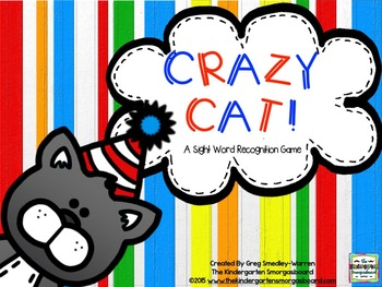 Sight Words!  Crazy Cat Sight Word Recognition Game!
