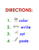 Sight Words Cut and Paste (Fry 2)