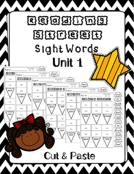 Sight Words Cut and Paste. Reading Street. Unit 1.