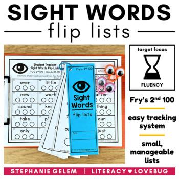 Sight Words Editable Flip Lists (Fry's Second 100)