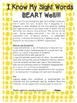FRY Words 1-100 Flashcard Activity (Bear/Bee Themed)
