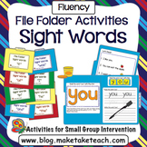 Sight Words - File Folder Activities