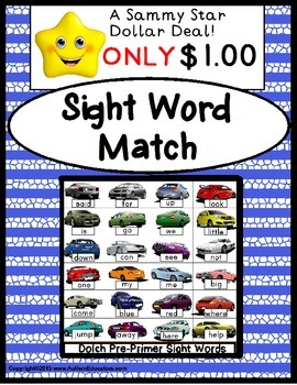 Sight Words File Folder Game for Autism/Special Education/