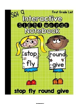 Sight Words Interactive Notebook First Grade List Set 9 (s