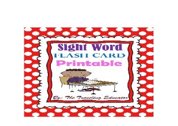 Sight Words Flash Cards (Fry's 1st 300 words) Print on 3 b