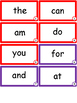 Sight Words -- Flash Cards -- One Word per Week