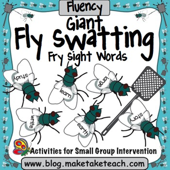 Sight Words - Fly Swatting Fry Sight Words- Giant Flies