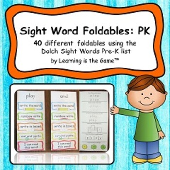 Sight Word Foldables: PK All 40 words from the Dolch Sight