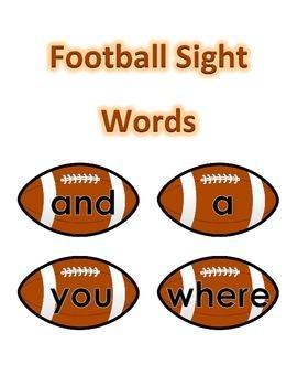 Sight Words - Football